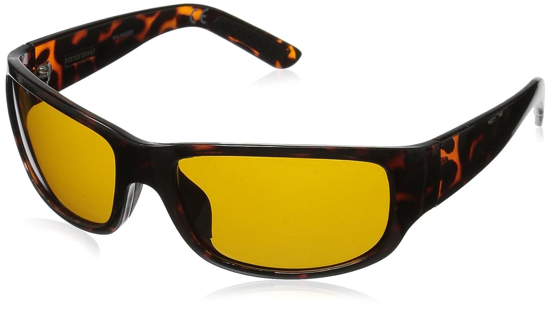 Foster Grant Women's Pitch Hd Polarized 10229249.COM Polarized Rectangular Sunglasses Tortoise 143 mm