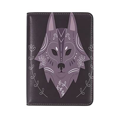 Glass Wolf Genuine Real Leather USA Passport Holder Cover Travel Case