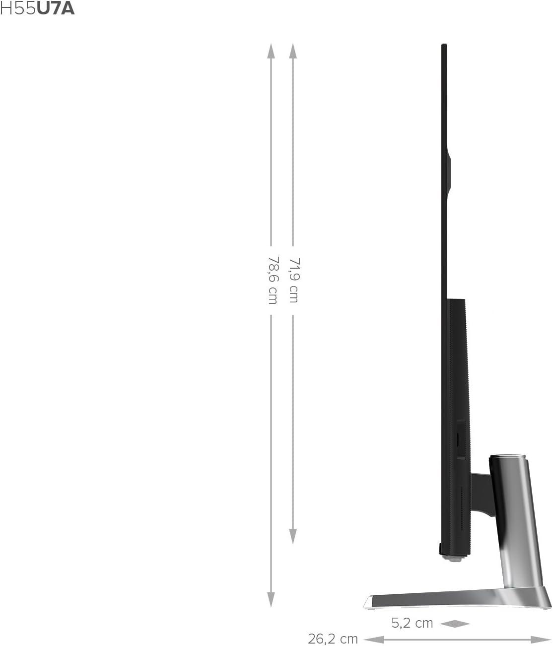 Modo Deportes HDR Perfect 8,9 mm Hisense H50U7A Grosor ultrafino Dise/ño met/álico sin marcos TV Hisense 50 ULED 4K Ultra HD Local Dimming Smart TV VIDAA U