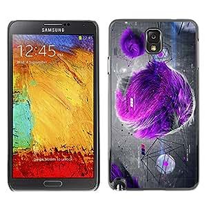 X-ray Impreso colorido protector duro espalda Funda piel de Shell para SAMSUNG Galaxy Note 3 III / N9000 / N9005 - Fur Gray Drawing Art
