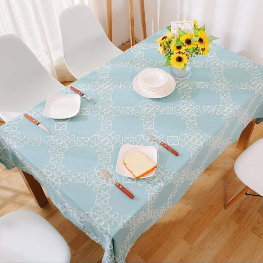 XixuanStore テーブルクロスブルー刺繍テーブルクロス長方形テーブル刺繍テーブルクロス (サイズ : 140*250cm) 140*250cm  B07Q6JZYBZ