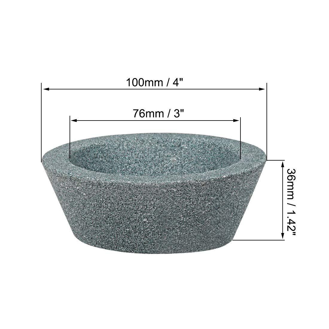 uxcell 125x10x32x4mm 180 Grit 75/% Resin Bond Diamond Grinding Wheel Grinder Plain Type