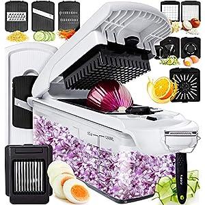 Fullstar Vegetable Chopper Dicer Mandoline Slicer – Food Chopper Vegetable Spiralizer Vegetable Slicer Peeler – Onion Chopper Salad Chopper Veggie Chopper Vegetable Cutter Food Slicer Egg Slicer