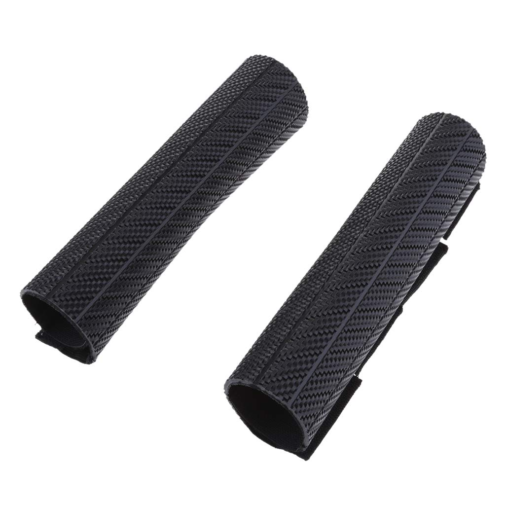 Sharplace Tenedor Frontal Amortiguador Protector Envoltura Cubierta Piel Para Motocicleta rojo
