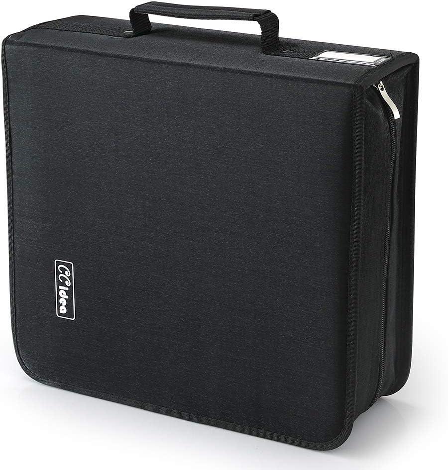 264 Capacity CD/DVD Storage Case Holder,Media Storage, Binder by CCidea