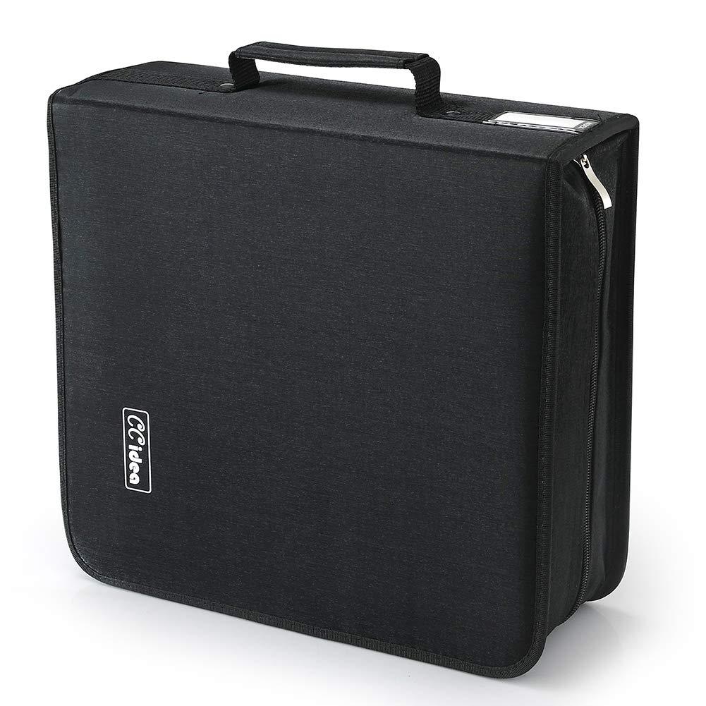 264 Capacity CD/DVD Case Holder,Storage, Binder by CCidea (Black)