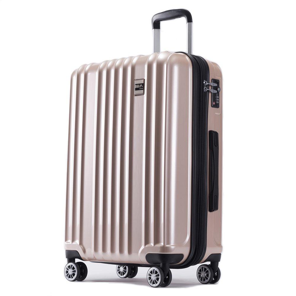 AKTIVA スーツケース 軽量 ファスナー TSAロック搭載ハードケース B075T6SG6H 大型、Lサイズ|ブラッシュシャンパンゴールド ブラッシュシャンパンゴールド 大型、Lサイズ