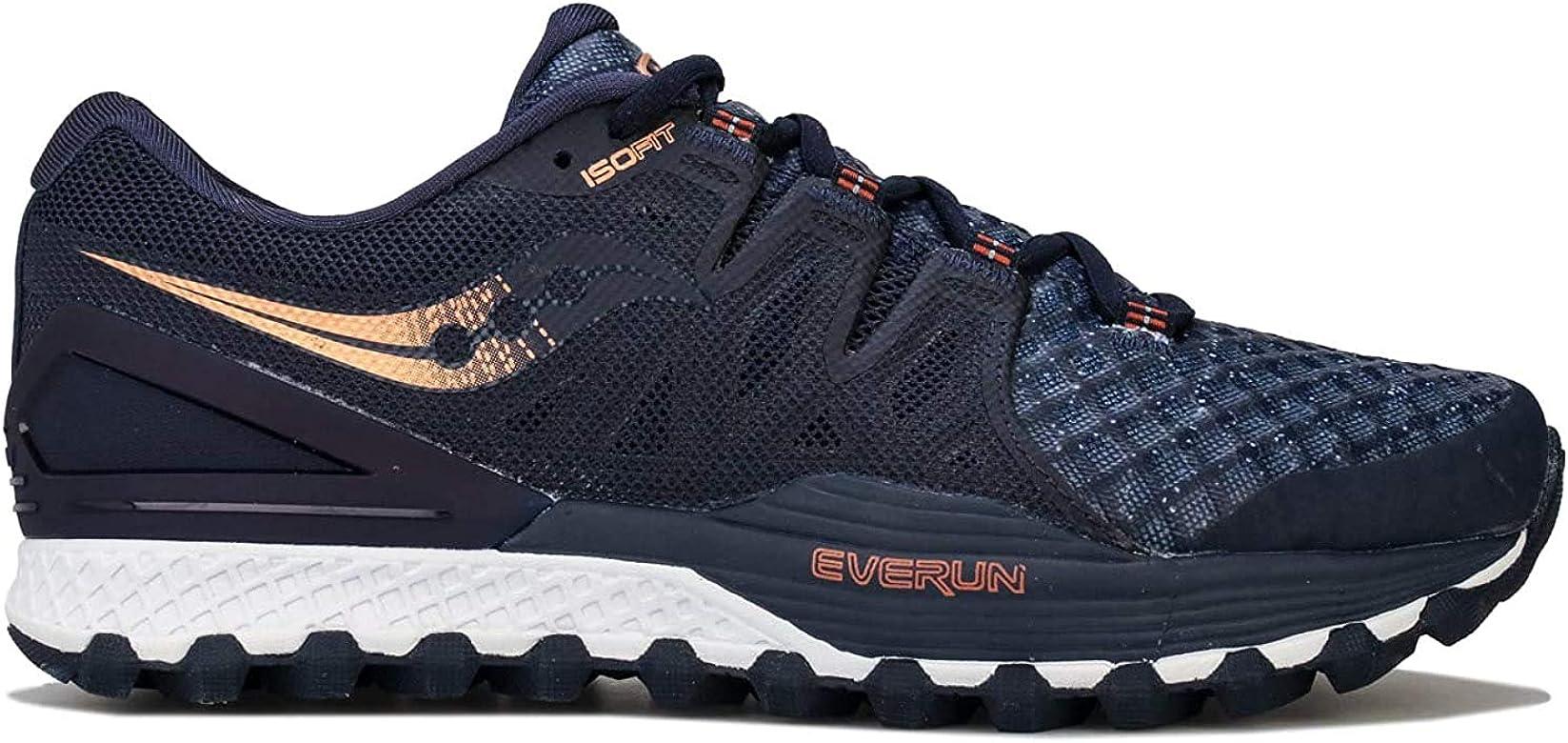 Saucony Xodus ISO 2, Zapatillas de Deporte para Hombre, Azul (Nvy/Den/Copa 30), 41 EU: Amazon.es: Zapatos y complementos