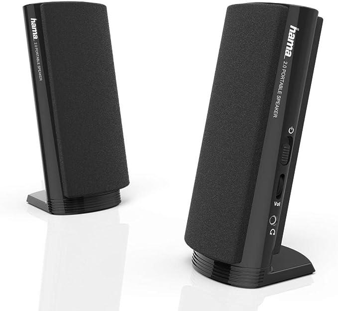 Hama 00057139 - Altavoces portátiles, Color Negro: Amazon.es: Informática