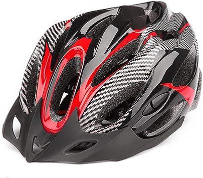 A ++ Moda bicicleta casco bicicleta bicicleta de montaña con luz ...