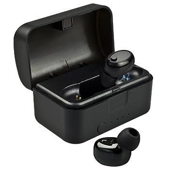 Holiper True - Auriculares inalámbricos con Funda de Carga, Auriculares estéreo Bluetooth con micrófono para iPhone, Samsung, Huawei, Tablet, Color Negro: ...