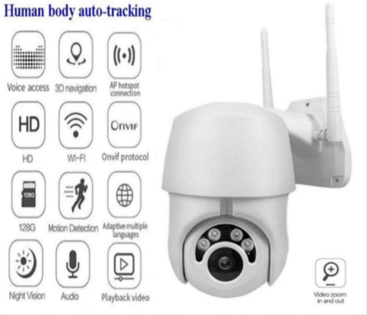1080P PTZ Outdoor IP Camera Topmall1 Speed Wireless WiFi Security Camera Dome Auto-Tracking Pan Tilt Zoom 2MP Net Work Loop Recording CCTV Surveillance by Topmall1