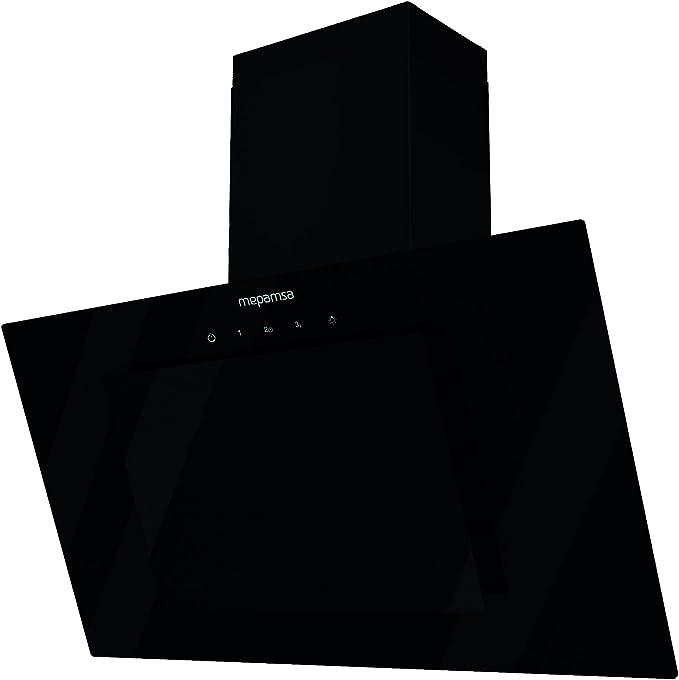Mepamsa Eclipse 90 Campana aspirante decorativa de pared, color negro, 1.5 W, 77 Decibelios, Vidrio templado: Amazon.es: Grandes electrodomésticos