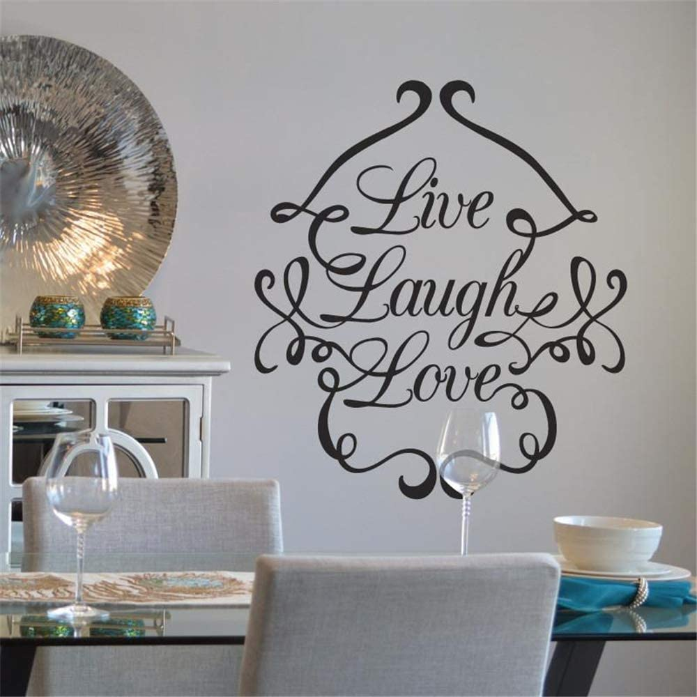Vinyl Wall Decal Wall Stickers Art Decor Live Laugh Love For Living Room Bedroom Amazon Com