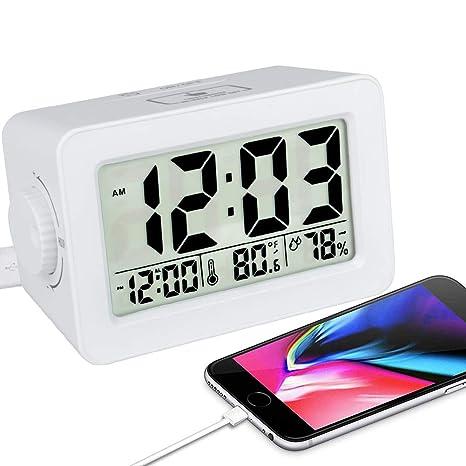 Amazon.com: ewtto Smart reloj despertador digital ...