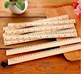 12 Pack Wood Rulers Student Rulers Wooden School Rulers Office Ruler Measuring Ruler, 2 Scale (12 Inch and 30 cm) by Zealer