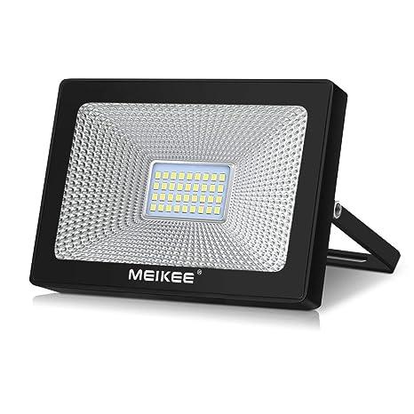MEIKEE Foco Led 30W, Floodlight Blanco Frío 3400LM, Luz Led 6500K, Proyector Exterior Impermeable IP66 para Patio, Garaje, Almacén, Parking, Jardín, ...