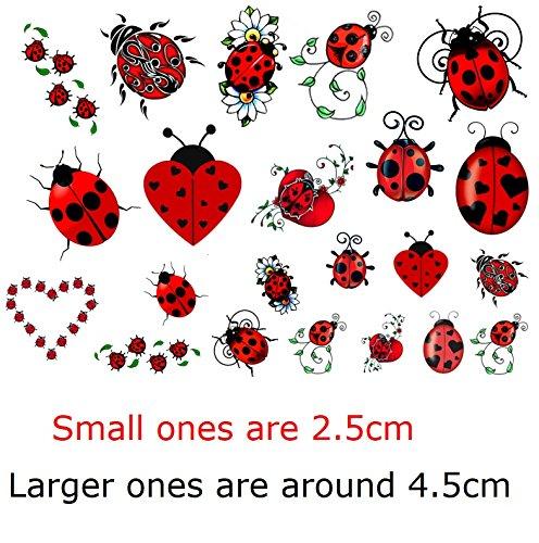 Lady Bug Tattoos (Ladybug c2 Temporary Tattoos)
