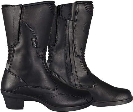 Oxford Valkyrie Femmes Imperm/éable moto cuir bottes avec talon