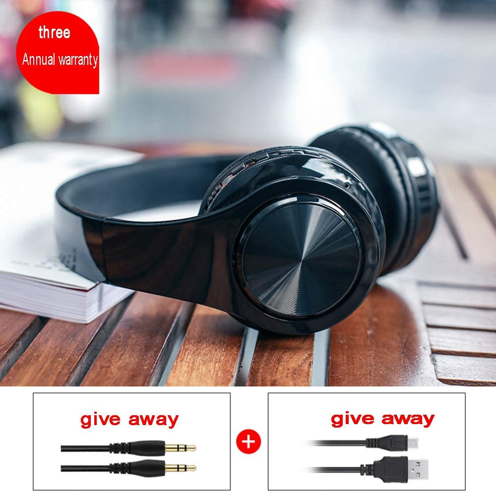 Wireless Bluetooth Headset Headphone Computer Universal Heavy Bass Double Ear Music Game Headset