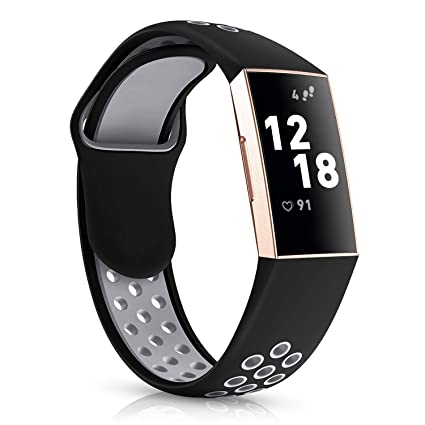Humenn Bands Compatible for Fitbit Charge 3, Soft Silicone Replacement  Accessory Sport Wristband with Air Holes Compatible for Fitbit Charge 3 and