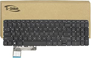 S-Union New Black Backlit Laptop US replacement Keyboard for HP Envy TouchSmart m6-k054ca m6-k022dx m6-k025dx m6-k001xx m6-k012dx m6-k015dx keyboard Series Part Number PK130UM1F00 SN7130NL PK130UM1D00