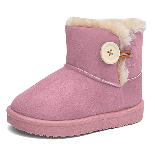 222b7380c89 CIOR Girl s and Boys Winter Snow Boots Fur Outdoor Slip-on Boots (Toddler