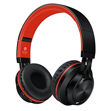 LQQAZY Auriculares Bluetooth Auriculares Subwoofer Juego PC/Celular / TV Auriculares Inalámbricos,Red