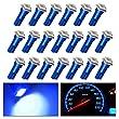 YITAMOTOR 20X T5 LED Bulb Dashboard Gauge Wedge Blue 37 58 70 73 74 T5 286 37