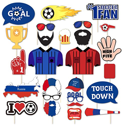2018 World Soccer Game Photo Booth Props Russia Party Supplies Championship - Pictures Soccer Cup World