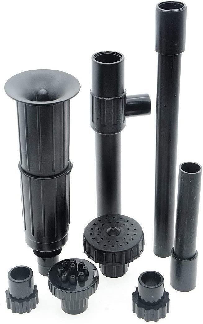 8//9x Plastic Water Pump Nozzle Spray Heads Sprinkler Fountain For Aquarium Pump