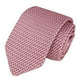 party ties - Mens Casual Solid Pink Woven Neck Tie Knit Formal Party Wedding Prom New Necktie