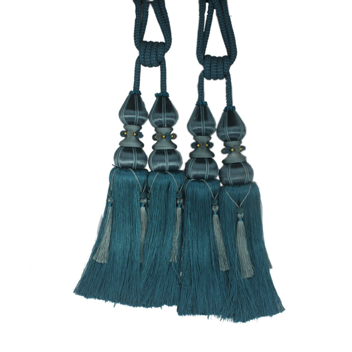 Fongbay One x 4pcs Tassel Curtain Crystal Curtain Hanging Ball(Single Ball Style) for Curtains Tiebacks Rope,Curtains Buckle Holdbacks Tiebacks Tassel Window Cotton Rope Tie Ball