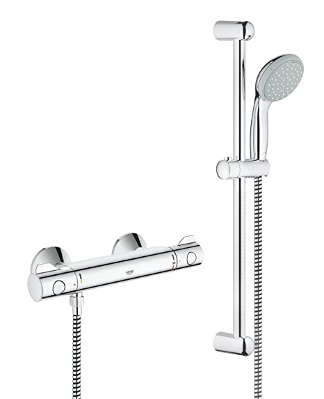 GROHE 34565000 | Grohtherm 800 Shower Thermostat Shower Set: Amazon ...