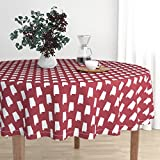 Roostery Round Tablecloth - Bama Alabama State America College Sports Football by Charlottewinter - Cotton Sateen Tablecloth 70in