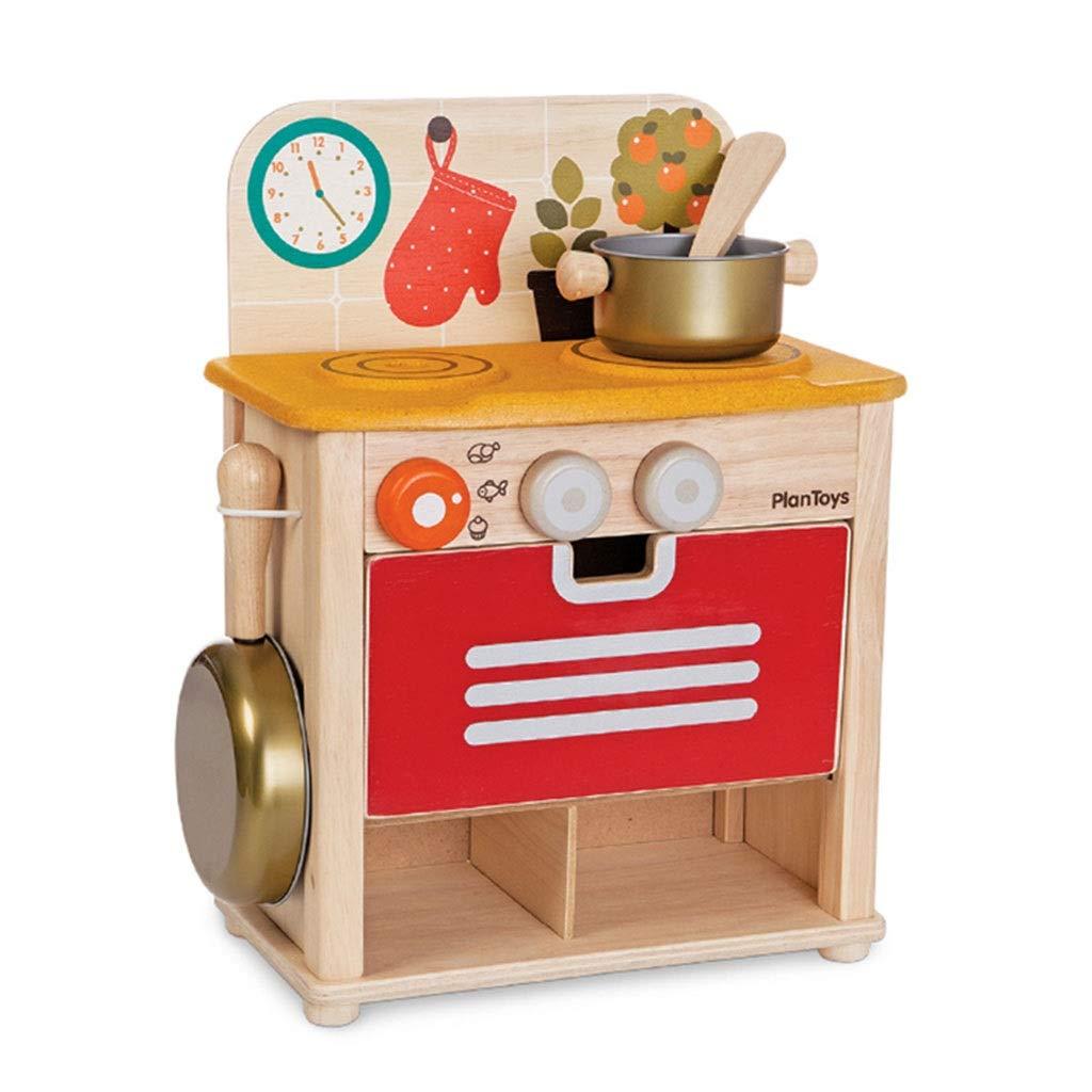 調理器具食器 ABSキッチンプレイセット Kidenキッチン玩具 ミニクッキング玩具 防水カウンター ロールプレイング 誕生日プレゼント (Color : Red, Size : 15*30.5*39.5cm) 15*30.5*39.5cm Red B07PJT1BPY