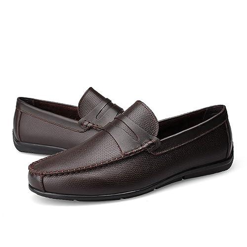 Mocasines de conducción para Hombres Correa Decoración Slip-on Leisure Penny Mocasines Suela de Goma Suave: Amazon.es: Zapatos y complementos