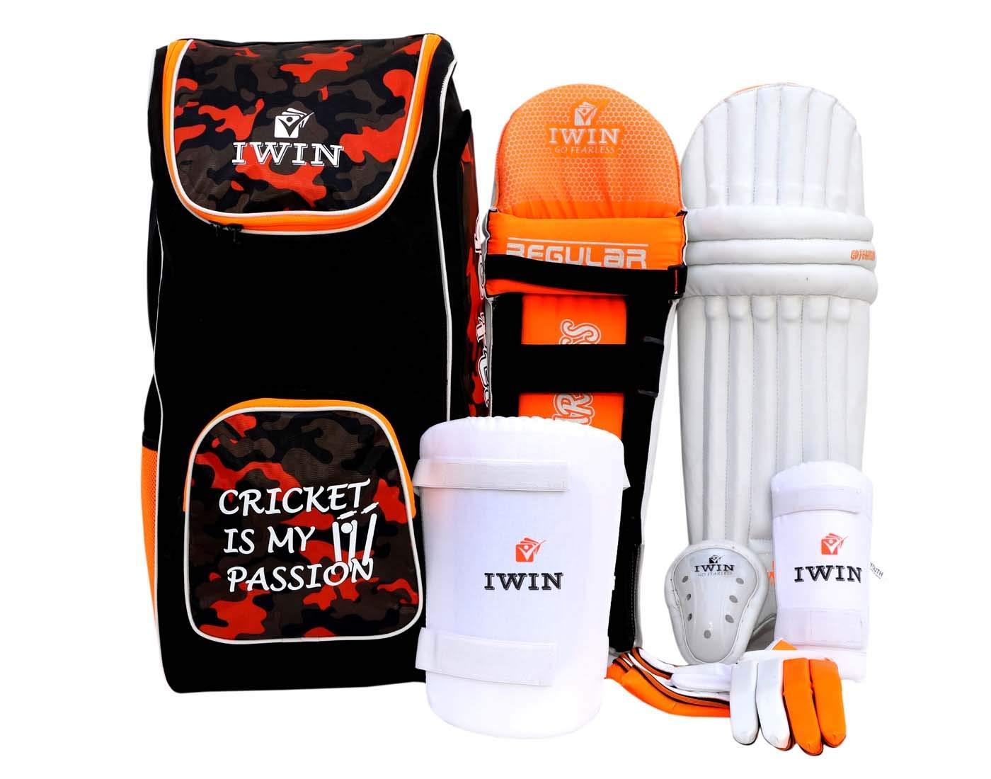 IWIN REGULARKIT PVC Cricket Kit for Boys (Orange)