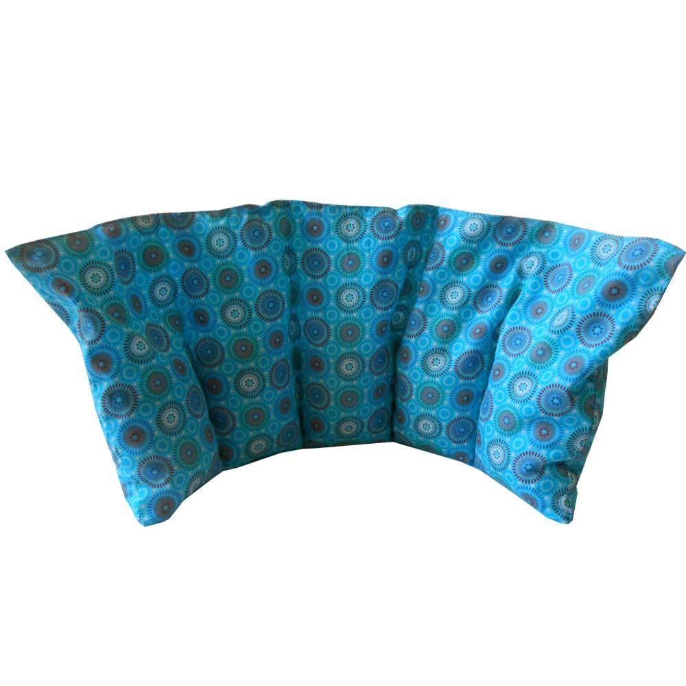Cuscino termico 'DISCO CYAN' - 50 x 20 cm (XL) - pieno di noccioli di ciliegia 800gr - effetto freddo/caldo . saco termiche