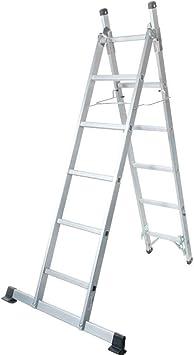 Escalera 2 tramos 1,70 de 2,56 m) aluminio: Amazon.es: Bricolaje y herramientas