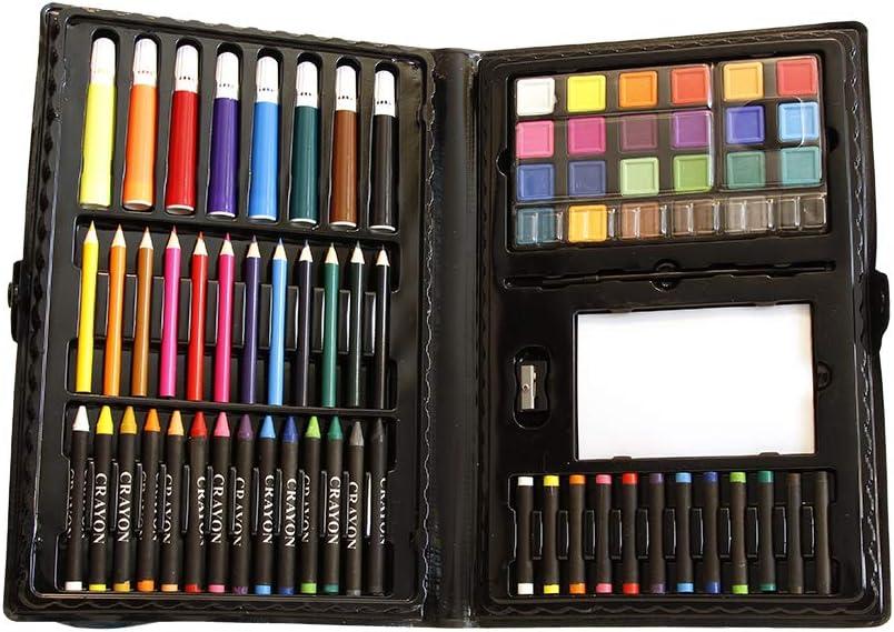 120 Piece Art Supplies Kit Set Pencils Pastels Painting School Kids Case Drawing