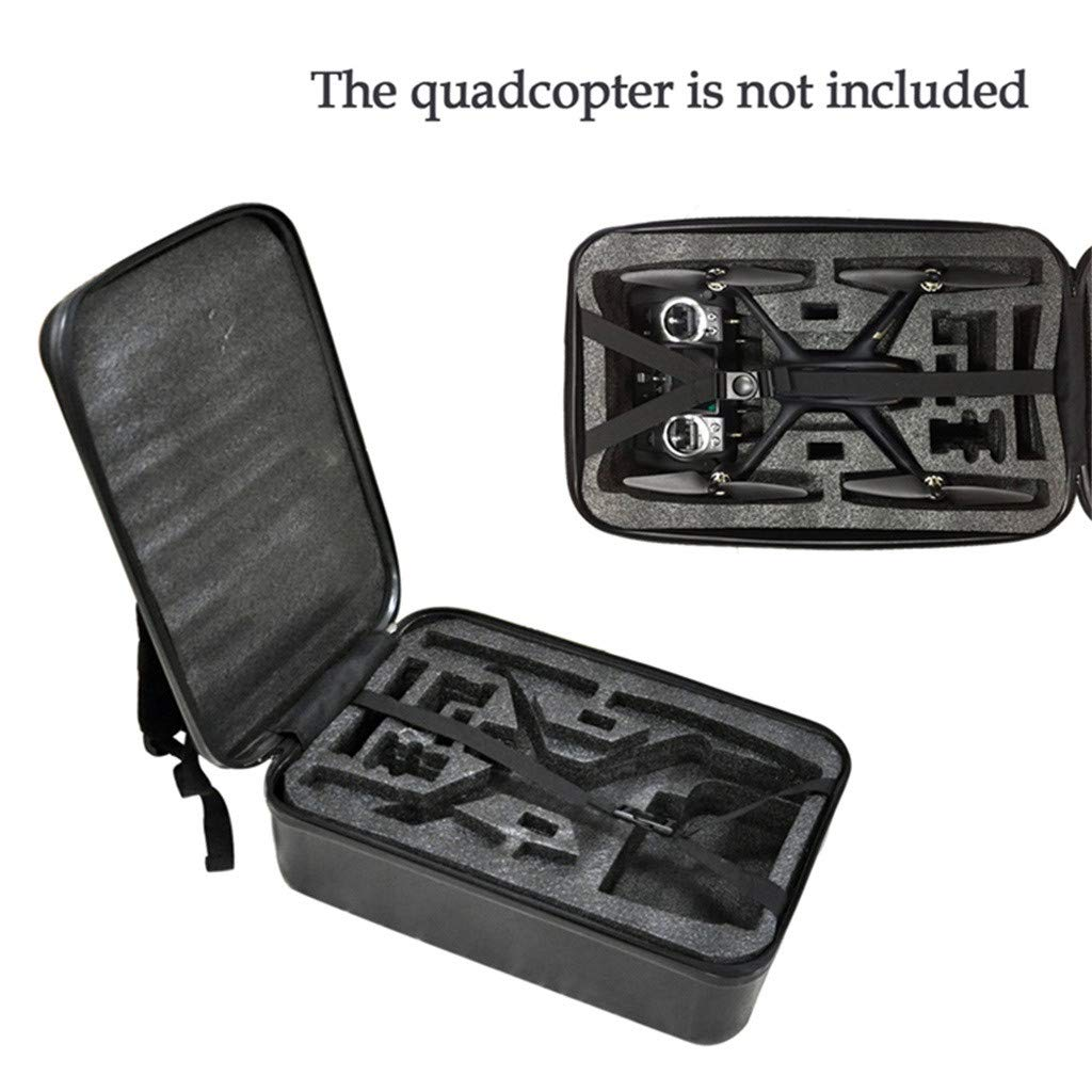 DDLmax Black ABS Hard Shell Backpack Case Bag for Hubsan H501S Quadcopter by DDLmax (Image #5)