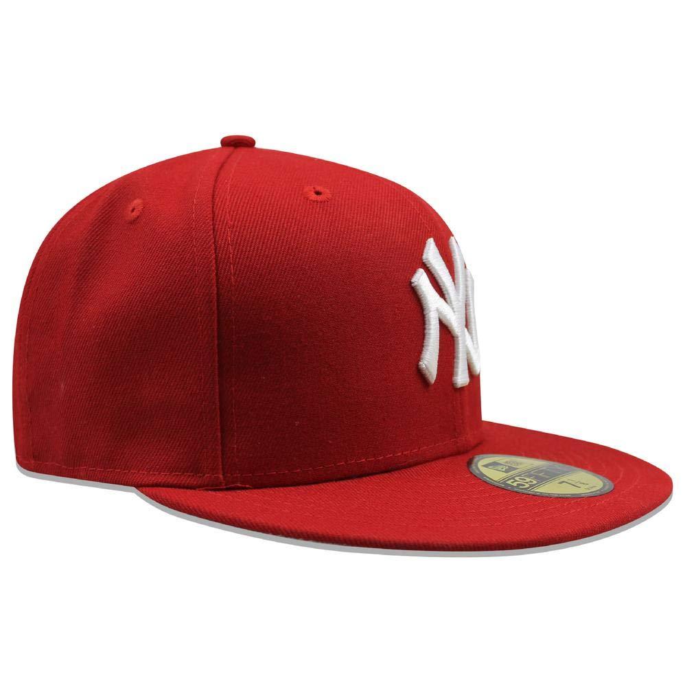 A NEW ERA 59Fifty York Yankees SC Wha Gorra Ajustada (Rojo/Blanco ...