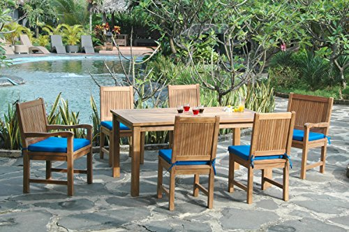 - Anderson Teak SET-204 Montage Chester Outdoor Dining Set,