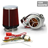New Motor Electrical Turbocharge Electric Turbocharger Kit 100W 9800RPM for Pit Pro / Tumpstar / Atv