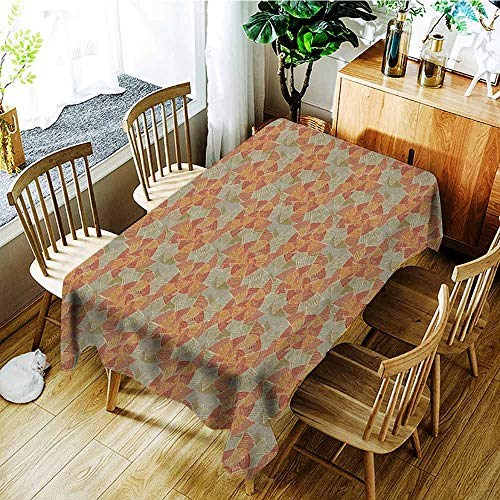 XXANS Rectangular Tablecloth,Pinwheel,Earth Tones Inspired Artistic Abstract Motifs in Striped Circular Vintage Shapes,Table Cover for Kitchen Dinning Tabletop Decoratio,W54x72L Multicolor