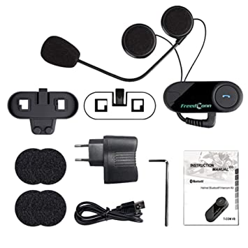 800M Profesional Intercom Auricular inalámbrico Bluetooth Interphone Moto Casco de la Motocicleta Interphone Headset