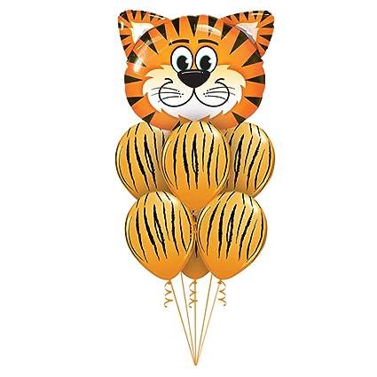 Mattelsen Globos de Animal Helio Tigre Gigantes 1 Pieza 6 Pcs Látex Globos para niños de