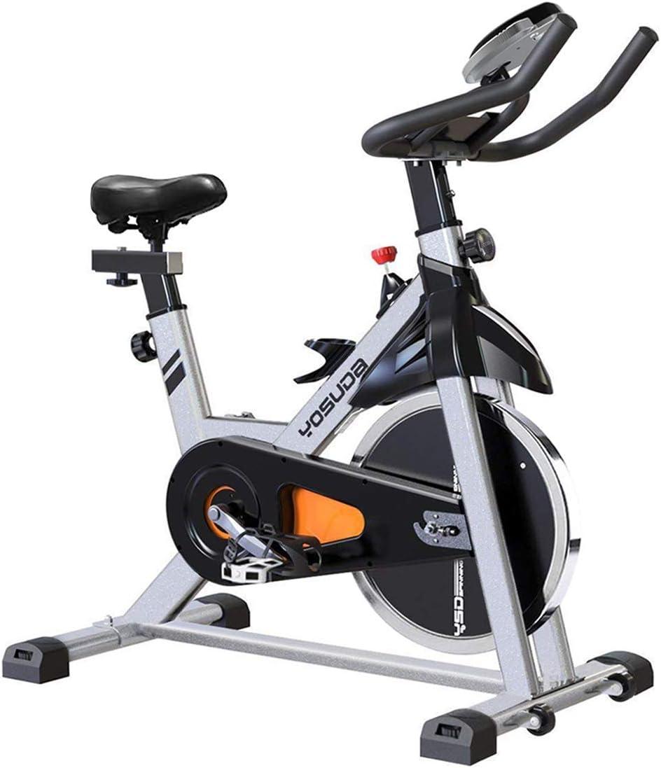 YOSUDA Indoor Cycling Bike Stationary – Cycle Bike with Ipad Mount Comfortable Seat Cushion Gray