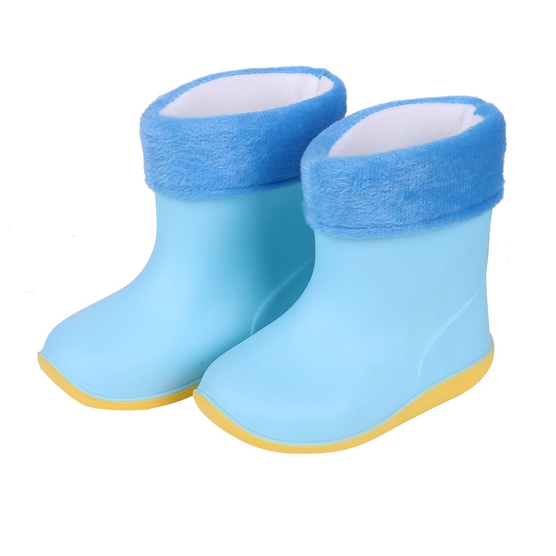 Asgard Cute Rain Boots for Kids Waterproof Candy Color Ankel Rubber Boots, with Warm Cosy Soft Socks B16 by Asgard (Image #6)